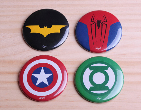 chapas de superheroes